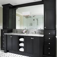 black bathroom vanity with white marble top. black bathroom cabinets with white and grey counter top floor tiles vanity marble i