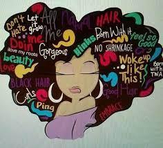 Pin by Latonya Riggs on Healthy hair | Black art painting, Black love art,  Black girl art