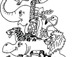 Coloring Coloring Pages Zoo Animals Page Animal Free Colouring