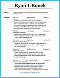 Carpenter Resume Cool Resumes Carpenter Journeyman Objective School Frightening Resume