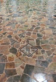 tiles mosaic stone flooring stone mosaic patterns broken hometalk tiling warm color design vintage