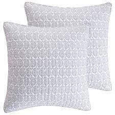 Amazon.com: Levtex Home Home - Darcy Euro Sham Set of 2 - Two Pillow Shams  26x26 - Grey, White- Cotton: Home & Kitchen
