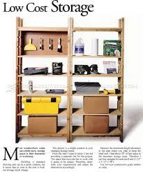 storage shelving unit plans