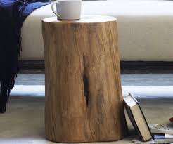 tree stump coffee table in natural stump table base