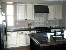 Black Granite Countertops With Tile Backsplash Enchanting Backsplash With Black Granite Kitchencleaningorg