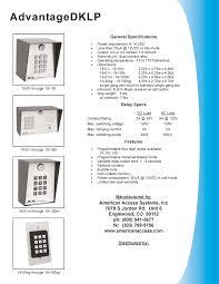 aas advantage dklp low power digital keypad for driveway gate aas dklp keypad brochure pdf