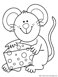 Coloring Mouse Page Glad Mouse