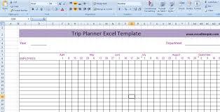 Trip Planner Excel Trip Planner Spreadsheet Under Fontanacountryinn Com