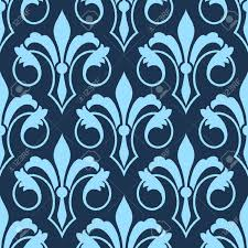Repeats In Textile Designing Stylized Scrolling Seamless Fleur De Lys Pattern With A Repeat