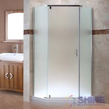 semi frameless neo angle shower door frosted