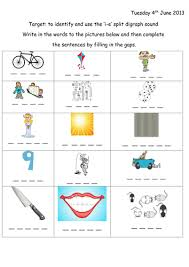 Work on some words that contain the letter i. Split Digraph I E Worksheet With Extension Teaching Resources