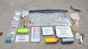 diy travel first aid kit image from hikeitlikeit com