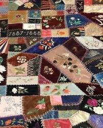 block 57 - I dropped the button box crazy quilt - pink and cream ... & Love this Crazy Quilt! Adamdwight.com