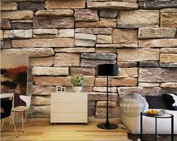 Bricks Design Beibehang Photo Wallpaper Modern 3d Bricks Modern Simple Brick Stone Stones Pile Art Design Bedroom Office Living Room Wallpaper