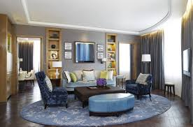 blue patterned round rug for living room all about rugs