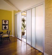 frosted glass sliding doors room dividers with steel frame for elegant dining room design