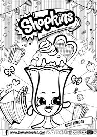 Coloring Pages For Girls Shopkin
