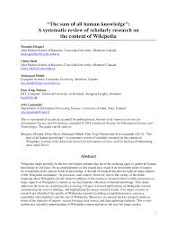 Reliability Of Wikipedia As A Medication Information Source For