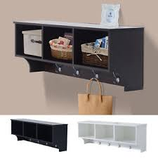 "Cubby Wall Organizer With Coat Rack 100""L Wall Mount Storage Shelf Cubby Coat Rack Organizer Entryway 68"