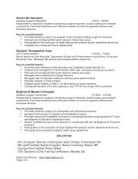 Technical Support Resume Technical Support Specialist Resume Network