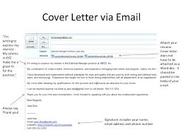 Resume Email Cover Letter Sample Email For Sending Resume And