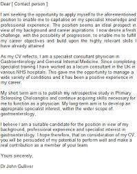 Medical Application Letter Sample Medical Doctor Cover Letter Sample