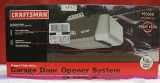 craftsman 1 2 hp garage door openerItem 4314  SOLD January 30 Derby Internet Only Auction