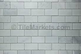 carrara marble subway tile 2x4