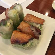 bbq pork roll at hoa sen vegetarian restaurant in garden grove