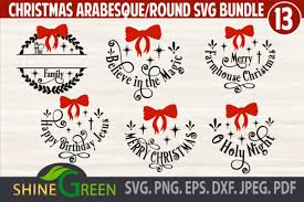 This product will be delivered as digital download. Christmas Bundle Ornaments Monogram Graphic By Shinegreenart Creative Fabrica