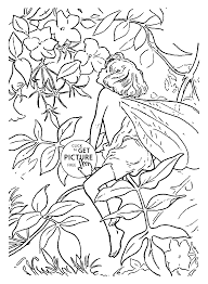 Flower Fairy Jasmine Coloring Page For