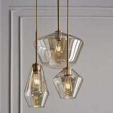 retro modern glass pendant light art