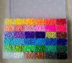 beaded mobile picture more detailed picture about hi q 5mm hi q 5mm perler beads 36 colors 11000 pcs box set 1 big template
