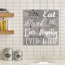 artissimo designs happily ever after canvas wall art on food and drink wall art with food drink art wall decor home decor kohl s