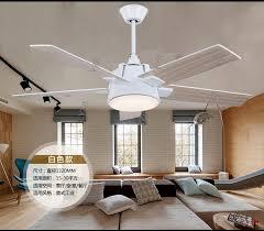Living Room Ceiling Fan Fascinating Industrial Mute 48inch Fan Chandelier Fan Light Living Room Dining