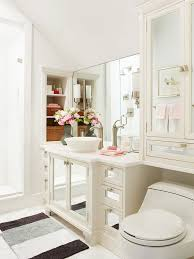 Walls are typically the dominant color feature in a small bathroom. If  you're worried about introducing too much color, try this advice.
