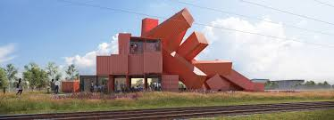 House Designs Using Shipping Containers David Mach Designs Sculptural Building Made From 30 Shipping