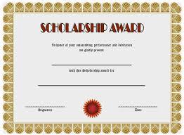 Scholarship Certificate Template Scholarship Award Certificate Templates Bkperennials