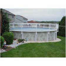 picture of above ground pool fence kit 36 vinyl works