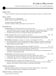 Resume Sample for Communications, Broadcasting. Media Intern