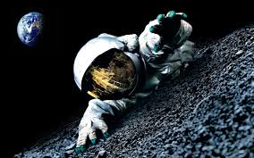 space, Earth, Moon, Astronaut ...