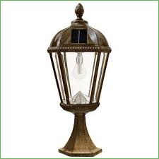 lighting royal bulb series outdoor weathered bronze integrated led solar powered post light innova led
