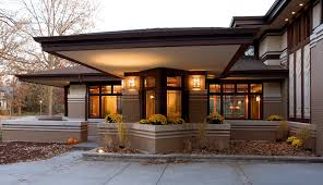 frank lloyd wright outdoor lighting. Frank Lloyd Wright Outdoor Lighting Prairie Style Windows Exterior Modern With Cantilever S