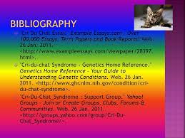 cri du chat syndrome by melanie findlay ppt 12 bibliography