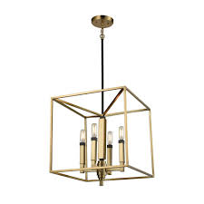 titan lighting mandeville 4 light satin brass with oil rubbed bronze accents chandelier