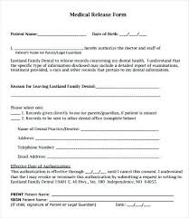 Sample Medical Records Release Form Medical Authorization Release Format Of Records Template