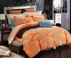 orange king size comforter sets lavish home bedding sets 66 mf7pc k 005 64 1000