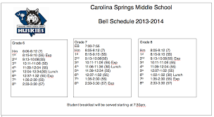carolina springs middle school carolina springs middle school 2013 2014 bell schedule
