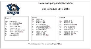 carolina springs middle school carolina springs middle school 2013 2014 bell schedule
