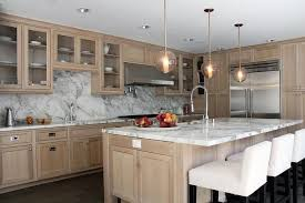 Painting Oak Kitchen Cabinets White Enchanting Beautiful Kitchen Features Wire Brushed Oak Cabinets Paired With